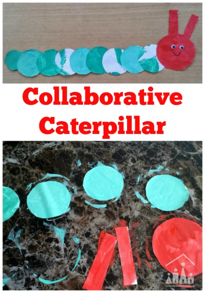 Collaborative Very Hungry Caterpillar Craft
