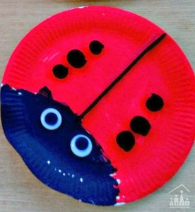Paper Plate Ladybird & Paper-plate minibeasts - Ladybirds Bees and Snails