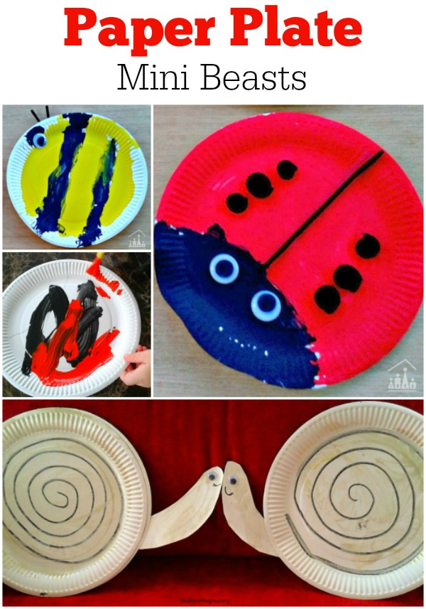 Paper Plate Mini Beasts Bees Ladybirds Snails