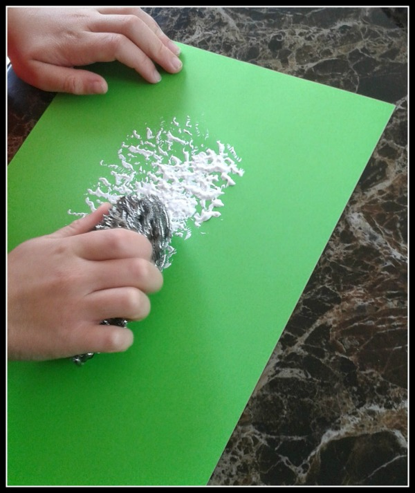 Baa Baa  Sheep Sponge Painting for Kids