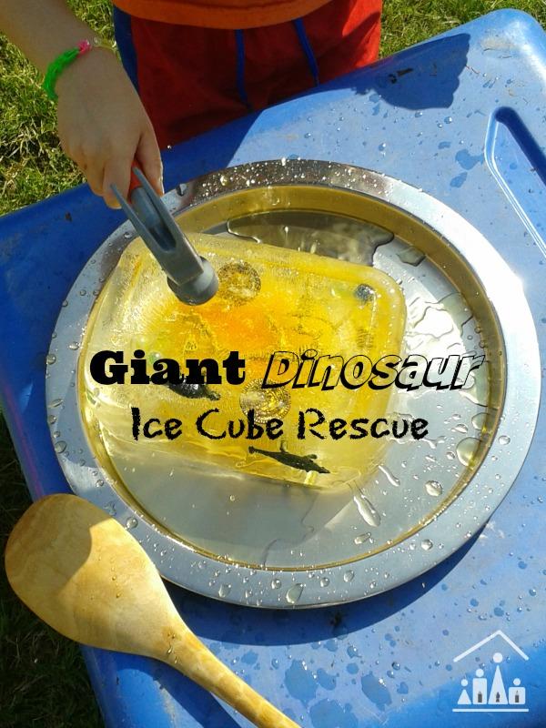 dinosaur ice cube resuce