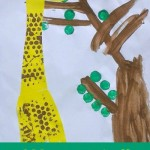 Bubble-wrap Giraffe Paintings for kids to make