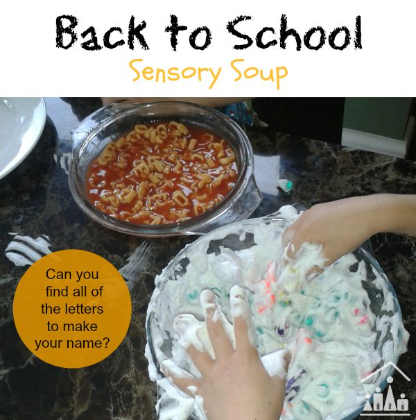 back to school sensory soup
