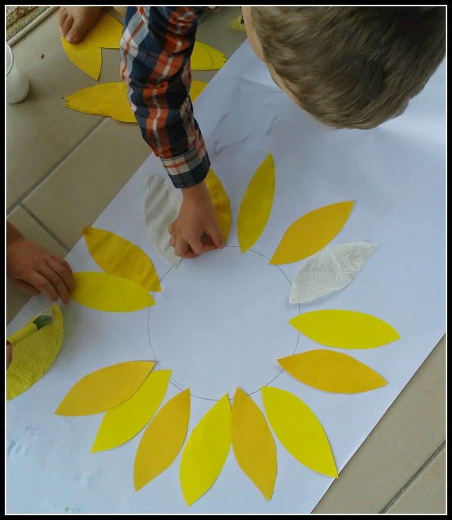 kids sunflower pictures