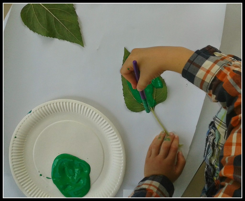 painting leaves
