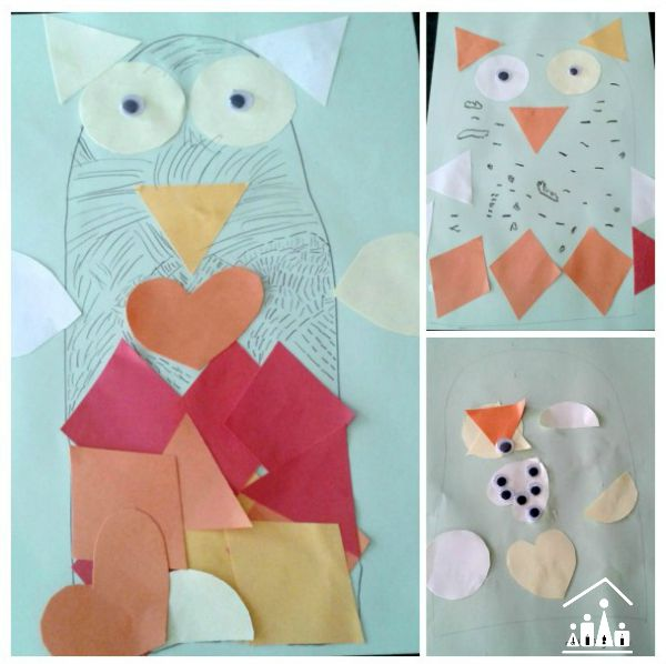 autumn owl collage