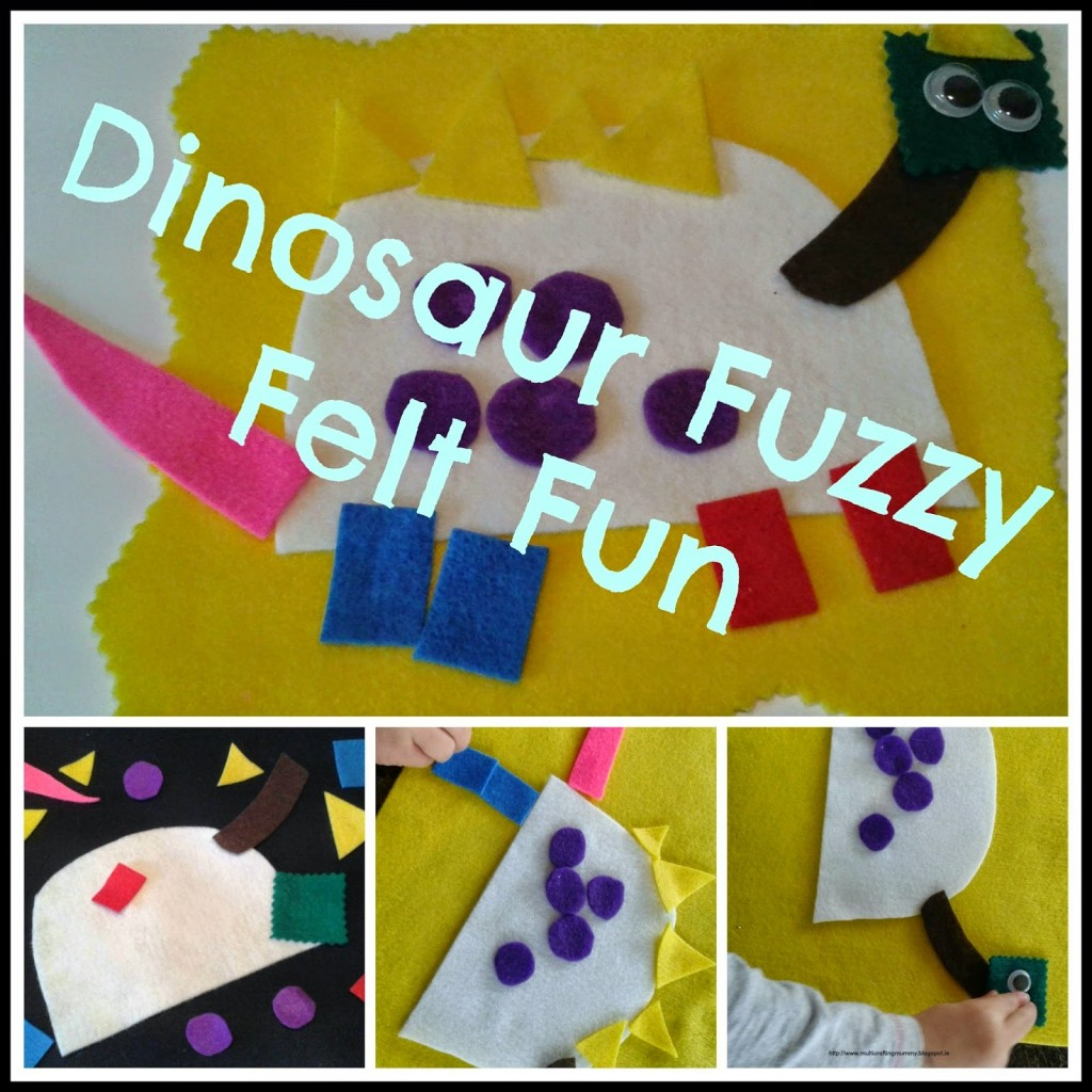 dinosaur felt activity for kids
