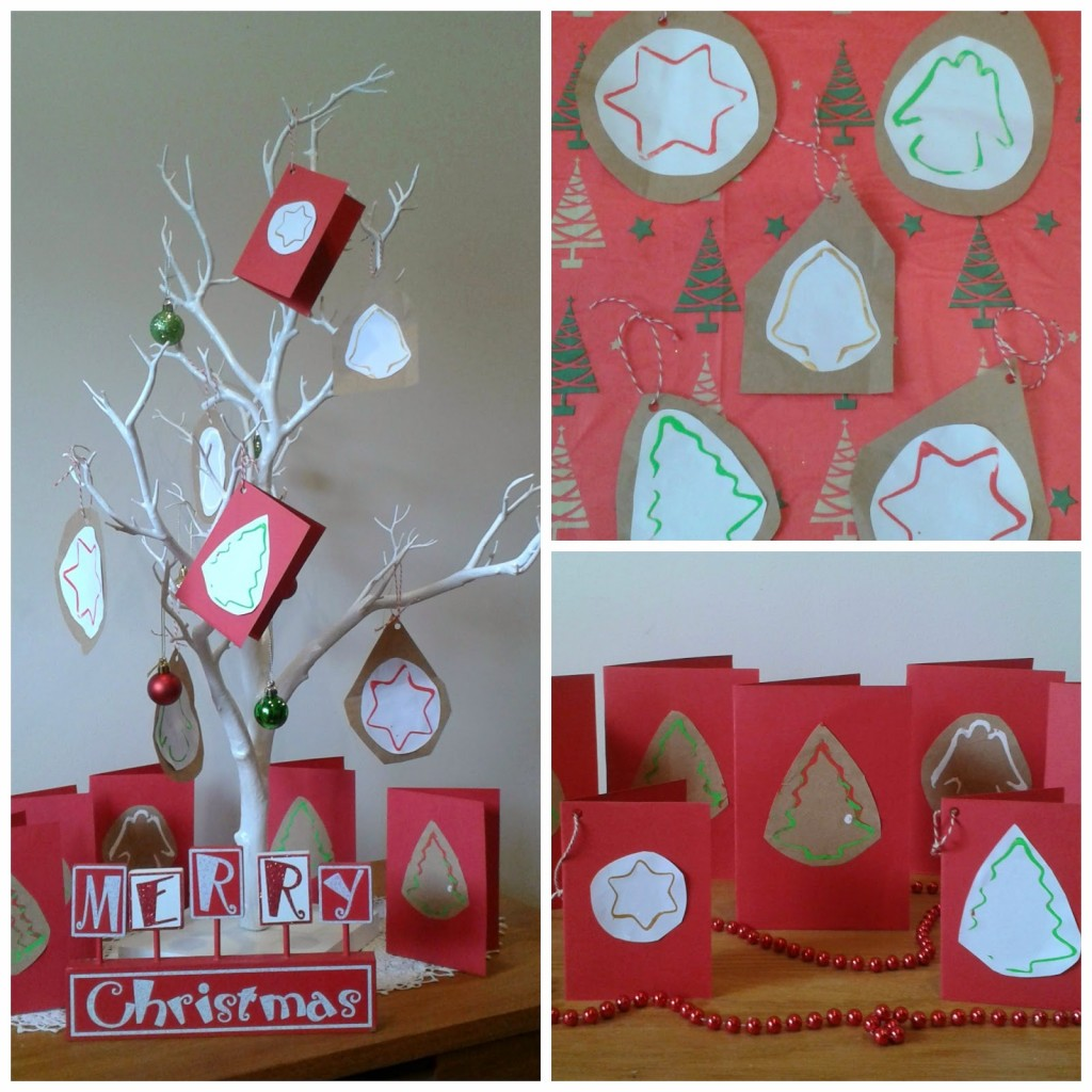 Simple Christmas cards for kids to make - Crafty Kids at Home