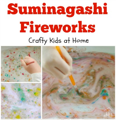 Suminagnashi Fireworks for Bonfire Night