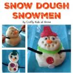 How to make Playdough Snowmen