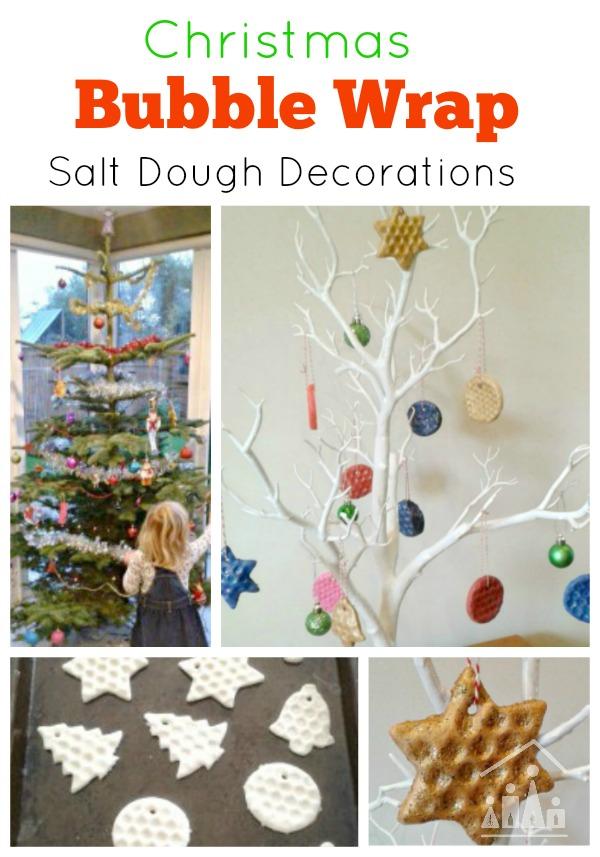 Christmas Bubble Wrap Decorations