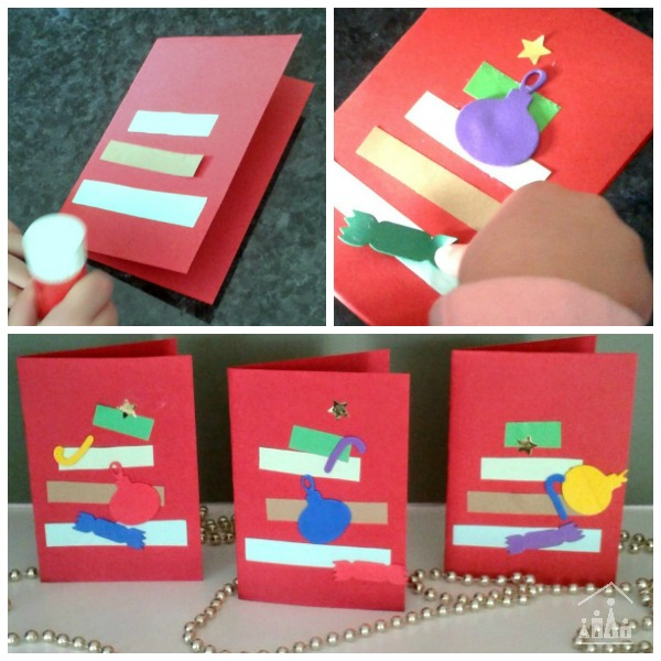 Making Christmas Tree Cards