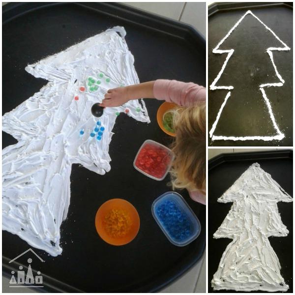 Christmas Tree Messy Play Activity