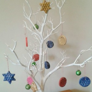 bubble wrap salt dough christmas tree decorations