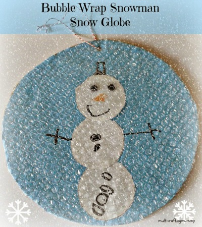 Bubble Wrap Snowman Christmas Tree Decoration Crafty
