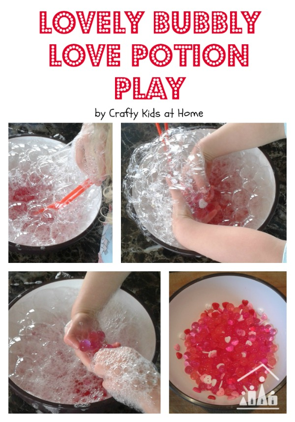 valentines day love potion sensory play