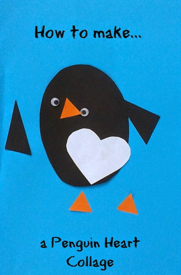 heart penguin collage