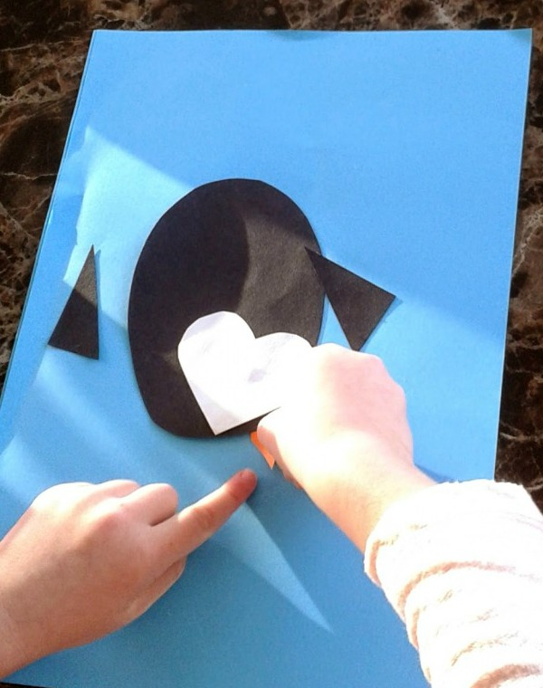 heart penguin collage