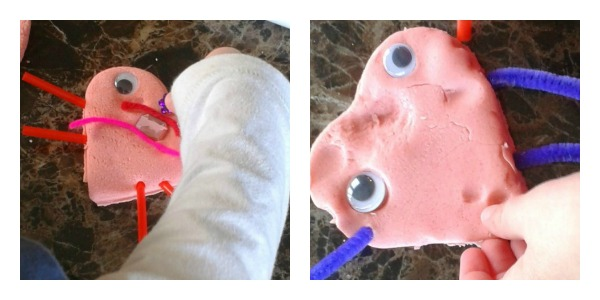valentines day play dough love bugs