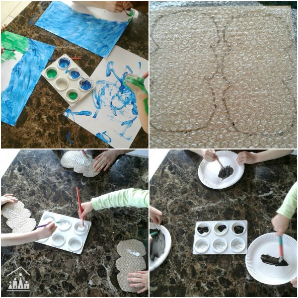 Bubble Wrap Activity Spring Lambs Craft