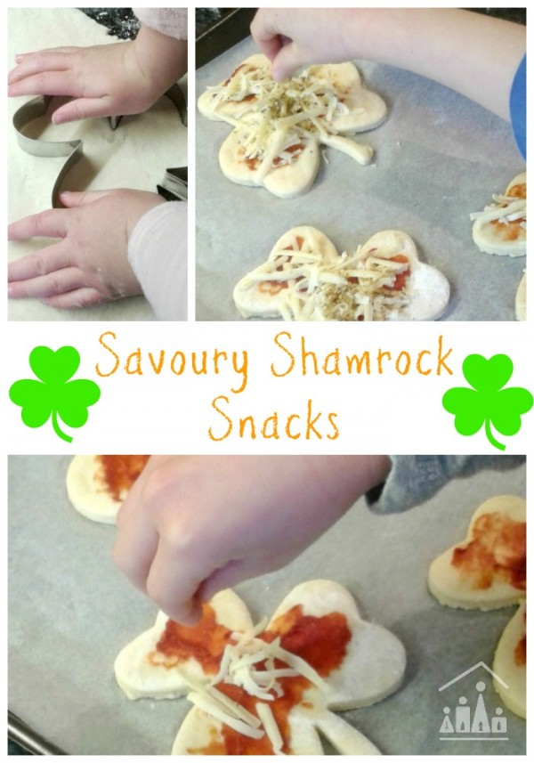 Savoury shamrock snacks for St Patricks Day