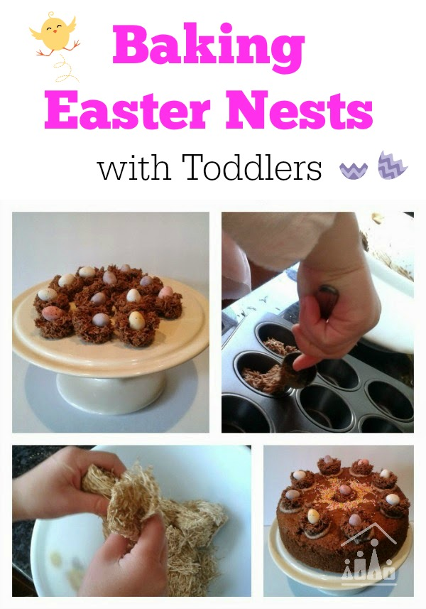 Baking Easter Nests with Toddlers