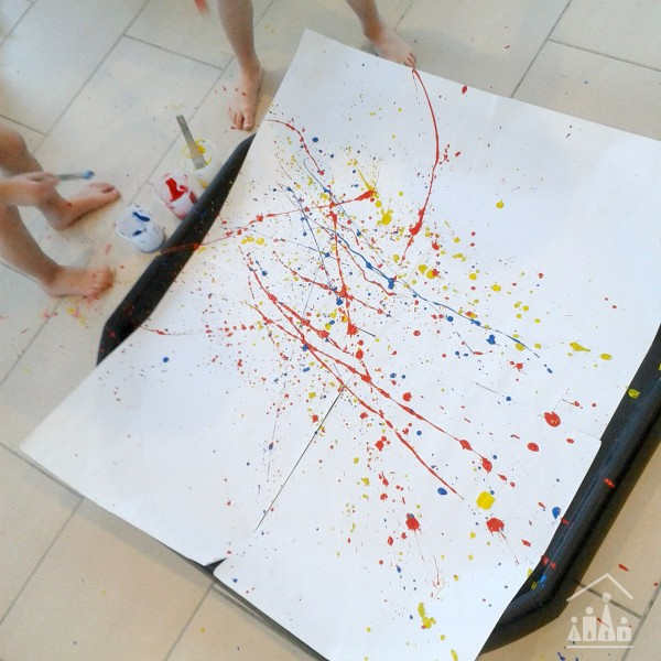 Easter Splat Art Painting in action