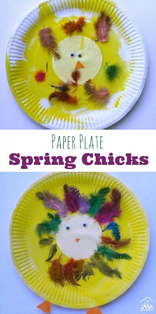 Paper Plate Spring Chicks