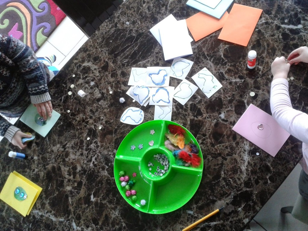 decorating easter cards