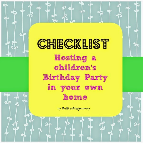 Checklist Hosting a Children's Birthday Party