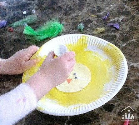 Crazy Chick Paper Plate Craft for Kids