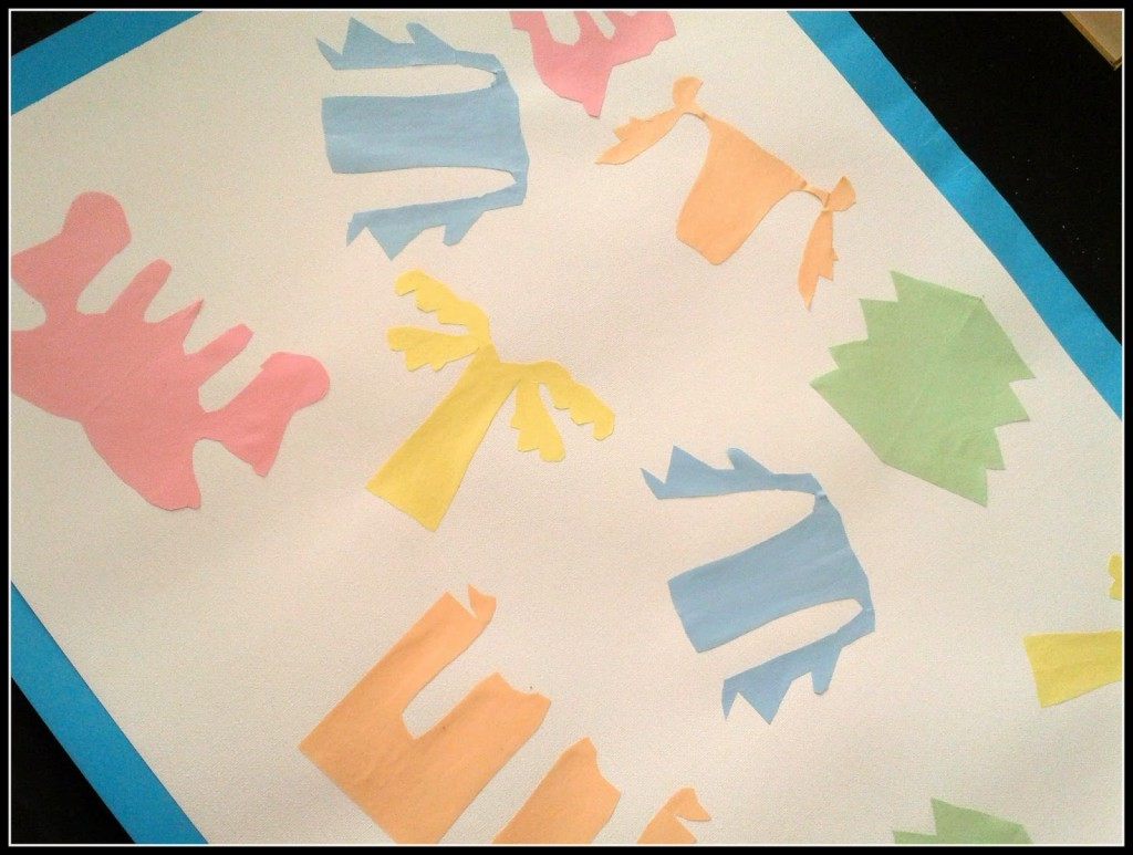 kids matisse style cut out art