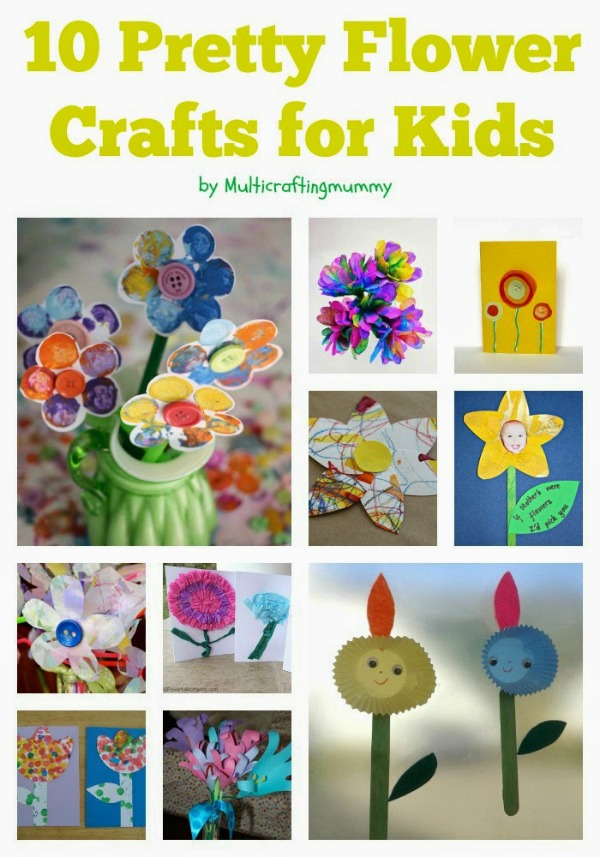 Top 10 flower crafts for mothers day crafty kids at home for Flower arts and crafts