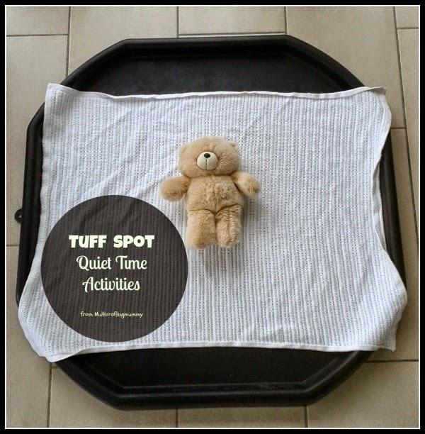 tuff tray quiet time activities