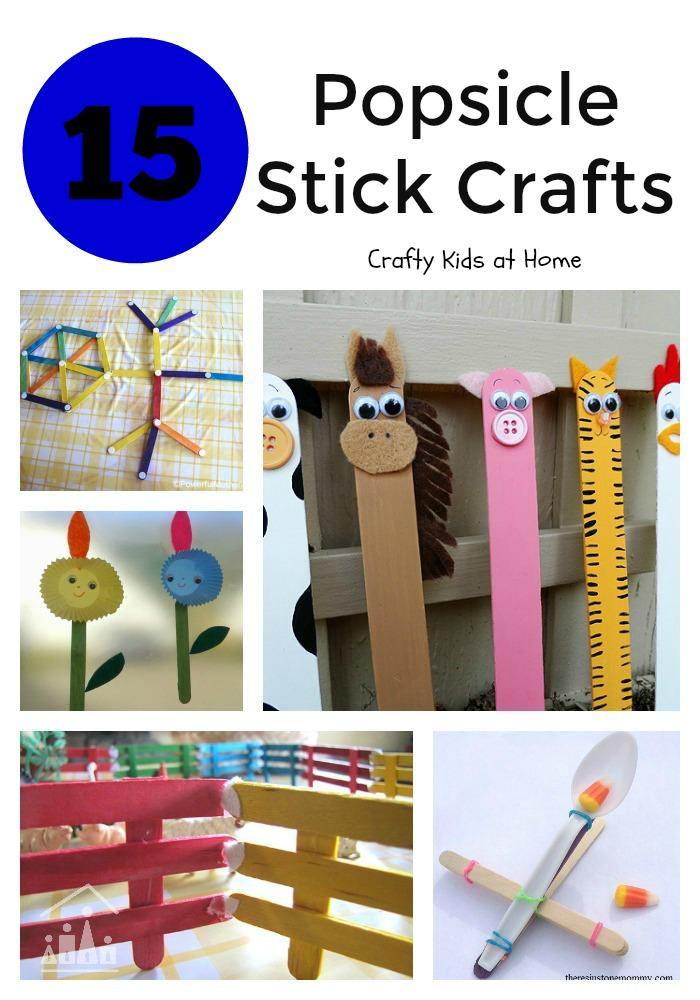 15 Popsicle Stick Crafts for Kids