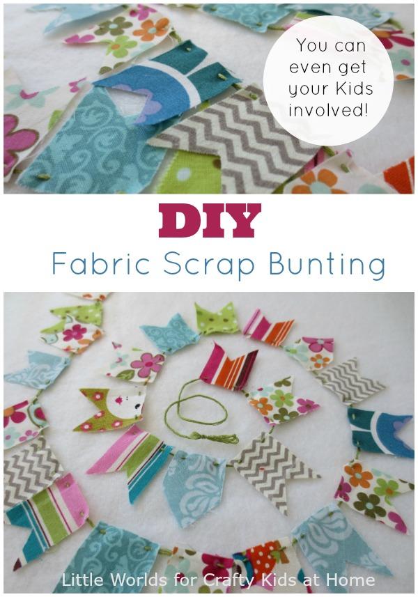 DIY Fabric Scrap Bunting