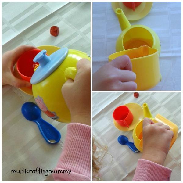 pretend tea set water play activity