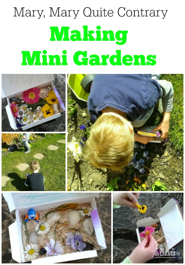 Mary mary miniature gardens crafty kids at home for Making things for the garden