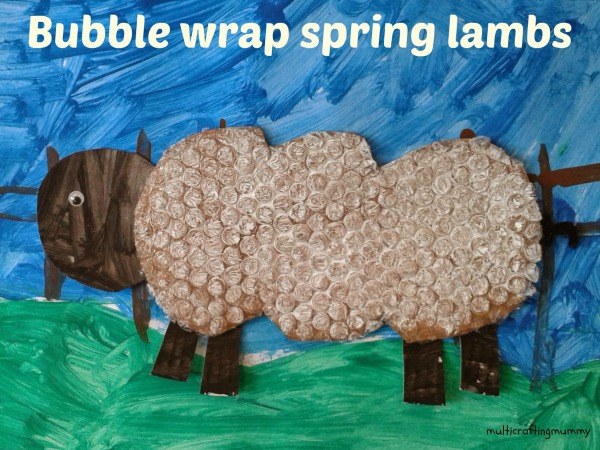 Bubble Crafts for Kids spring lambs
