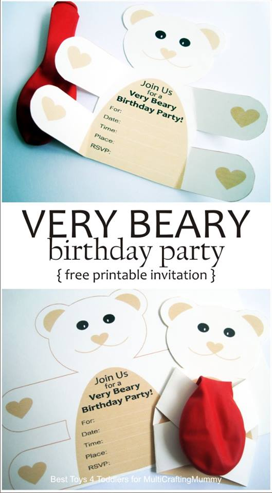 Mihaela Kindly Designed The Invitations For My Daughters Recent Teddy Bear Themed Birthday Party