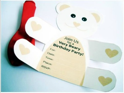 teddy bear printable invitation