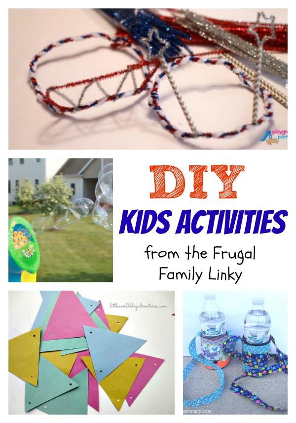 Frugal DIY activities for Kids