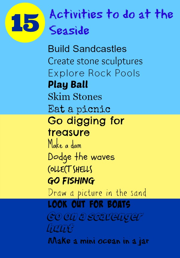 list of free seaside activities