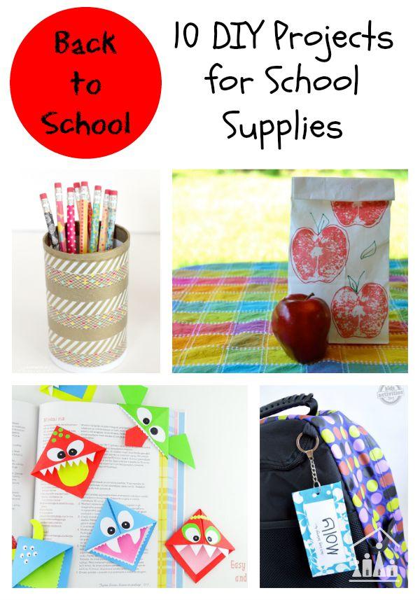 10 back to school diy projects for School diy ideas