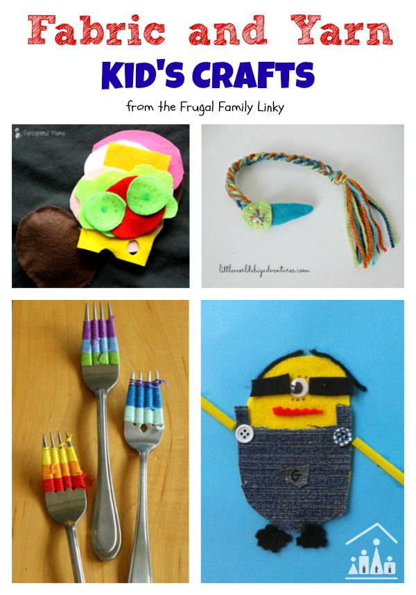 fabric and yarn kids crafts