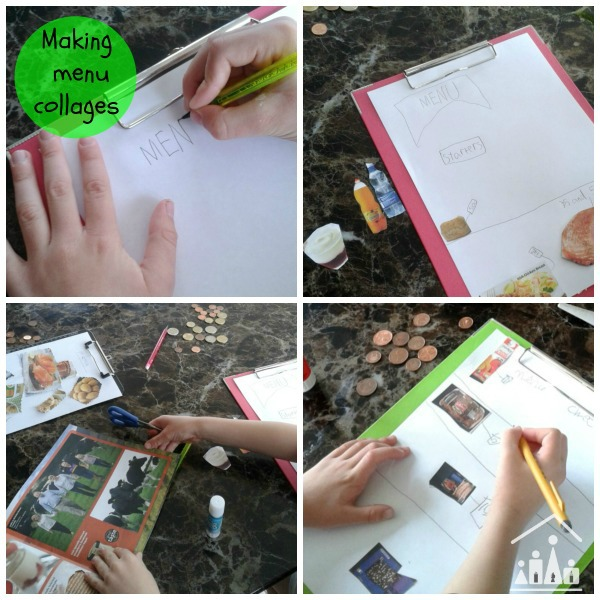cool maths for kids making menu collages