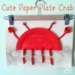Cute Paper Plate Crab