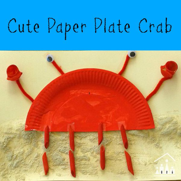 & Cute Paper Plate Crab - Crafty Kids at Home