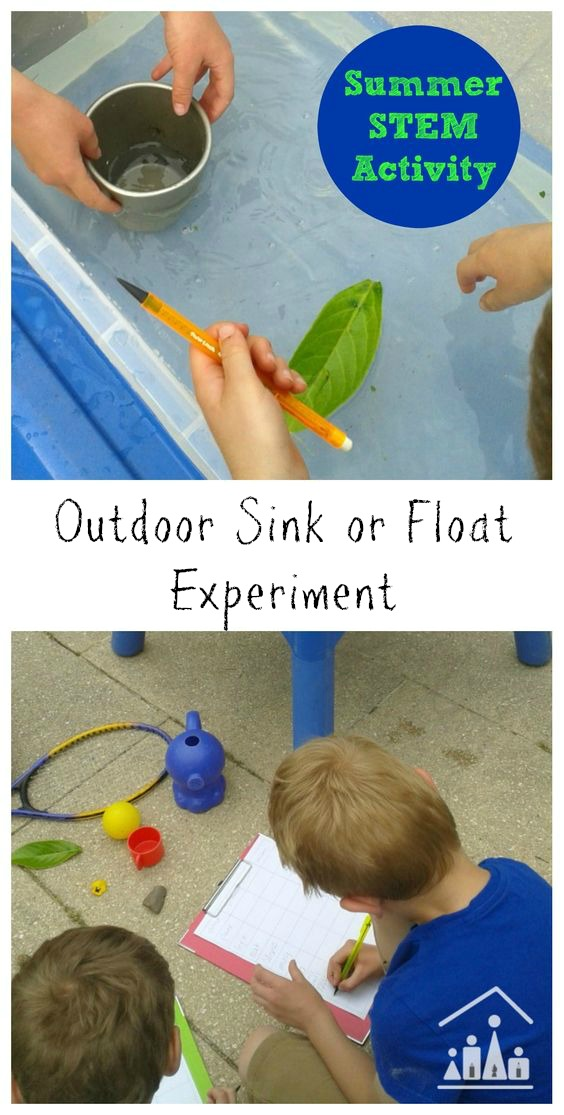 Outdoor sink or float experiment