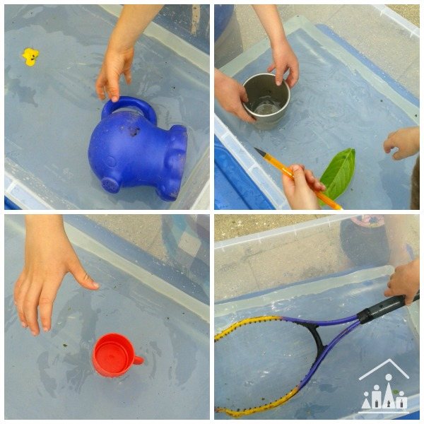 summer STEM sink or float fun